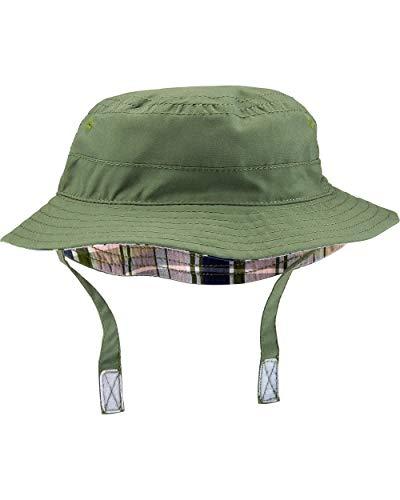 Carter's Boys' Reversible Bucket Hat, Olive Green, (12-24 Months)