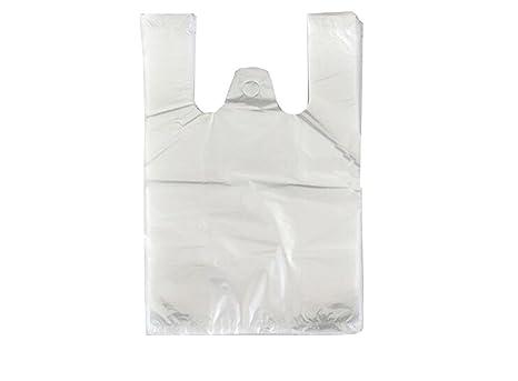 100pcs bolsa de tamaño mediano plástico transparente chaleco ...