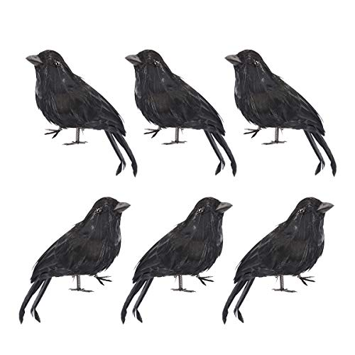 - LiangGui Halloween Black Crow Birds Ravens Party Décor 6 Pack