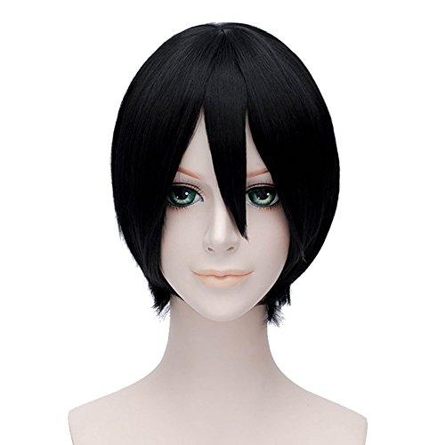 Xcoser Hetalia Japan Kiku Honda Cosplay Short Black Wig For Cosplay -