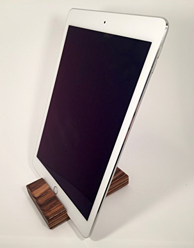 Wood iPad Stand - Zebrawood (tablet stand, docking, mens gift, tech gift)