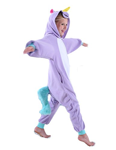cosMonsters Kids Unicorn Onesie Pajamas Cosplay Halloween Costume for Girls and Boys