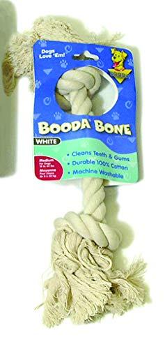 Booda 2-Knot Rope Bone White Medium