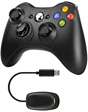 JAMSWALL Xbox 360 Wireless Controller 2.4GHZ Gamepad with Receiver, Dual Vibration Enhanced Game Controller for for Microsoft Xbox & Slim 360 PC Windows 7,8,10 & PS3