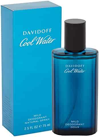 Cool Water By Davidoff For Men. Mild Deodorant Spray 2.5 Ounce, 1 Count