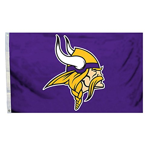 3 Flag Football (3x5 Football Sports Team Flags (Vikings))