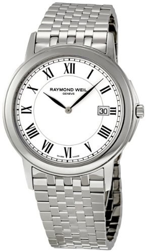 Raymond-Weil-Mens-5466-ST-00300-Tradition-White-Dial-Watch