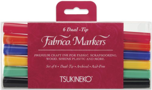al-Tip Markers, Standard, 6-Pack (PF-6-10000) (Fabrico Fabric Marker)