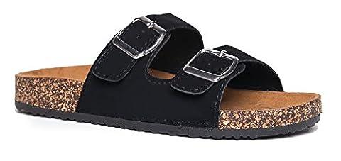 Comfort Low Easy Slip On Sandal – Casual Cork Bottom Platform Sandal Flat – Trendy Open Toe Slide Shoe – Keri by J. - Cork Platform Sandals
