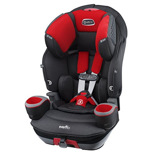 Reclining Booster (Evenflo SafeMax 3-in-1 Combination Booster Seat, Crimson)
