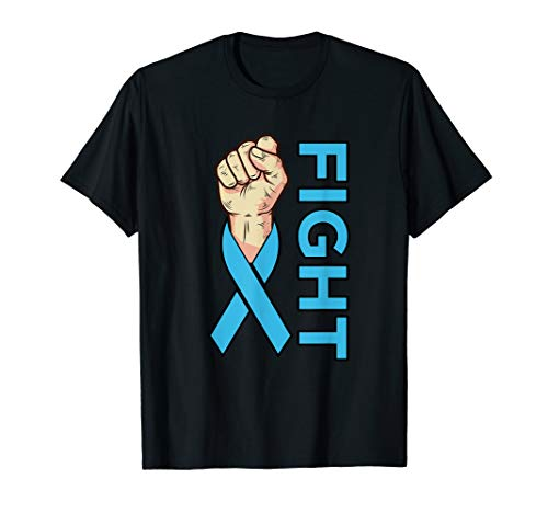 Fight Prostate Cancer Light Blue Ribbon Awareness Support  T-Shirt Cancer Womens Light T-shirt