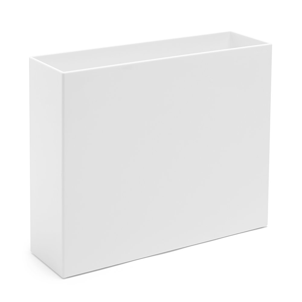 Poppin Plastic File Box, Letter Size, White