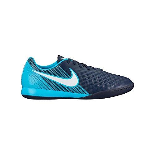 Nike Herren Magistax Onda II IC Fußballschuhe Blau (Obsidian Blau/Weiß-Gamma Blau-Gletscher Blau 414)