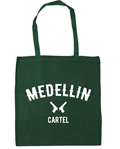 HippoWarehouse Medellin Cartel Pablo Escobar Tote Compras Bolsa de playa 42cm x38cm, 10litros verde oscuro