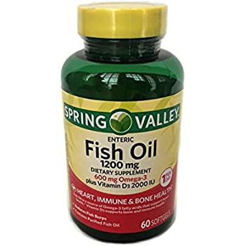 Nature 39 s bounty fish oil 1200 mg vitamin d3 for Spring valley fish oil 1200 mg