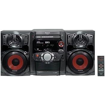 Amazon Com Panasonic Sc Ak220 5 Cd Shelf System Black