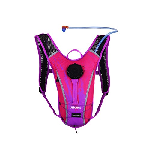 Source Outdoor Spinner NC 1.5L Hydration Pack, Youth, Pink/Purple