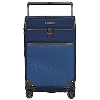 M&A Dual Opening Wide Trolley Check-in Suitcase Luggage, Navy Blue, Large 28-Inch
