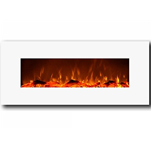 Regal Flame MFE5050WH Houston 50' Electric Wall Mounted Fireplace-White
