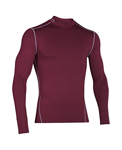 Under Armour Men's ColdGear Armour Compression Mock Long Sleeve Shirt, Maroon /Steel, XXX-Large by Under Armour (Image #3)