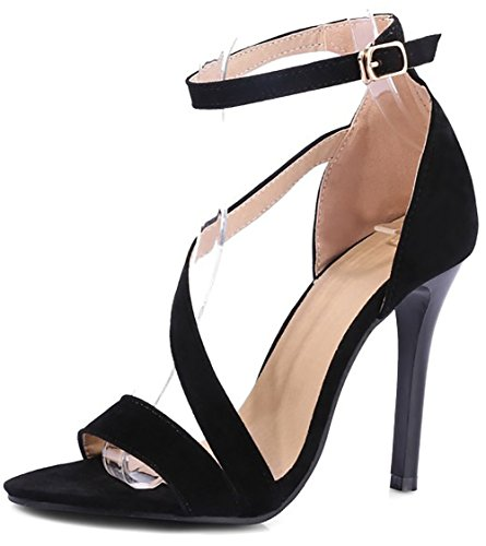 Open Women Dress Stiletto ODEMA Cup Toe Heel Sexy Black Pump w4xdXCP