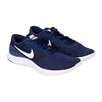 Nike Men's Flex Contact Running Shoe (8, Midnight Navy/White-Black)