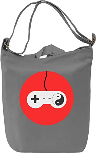 Gaming Yin Yang Borsa Giornaliera Canvas Canvas Day Bag| 100% Premium Cotton Canvas| DTG Printing|