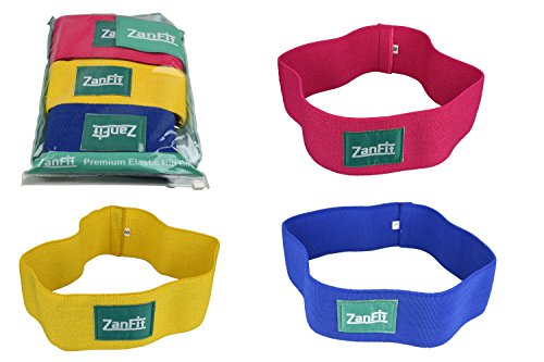 ZanFit Hip Bands – Set of 3 – Fabric Resistance Bands – Booty Bands – Thigh Resistance Hip Band – No Slip – Low, Medium Heavy Loop Circle – Perfect Stretching, Lifting, Squatting, Pilates. For Sale