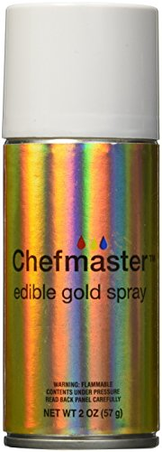 Chefmaster Edible Spray, One 2-Ounce Can. Kosher Certified - Gold (Wilton Gold Color Mist compare prices)