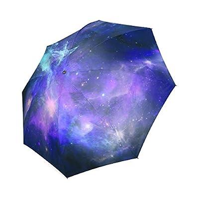 Artsadd Fashion Umbrella Blue Galaxy Foldable Sun Rain Travel Umbrella