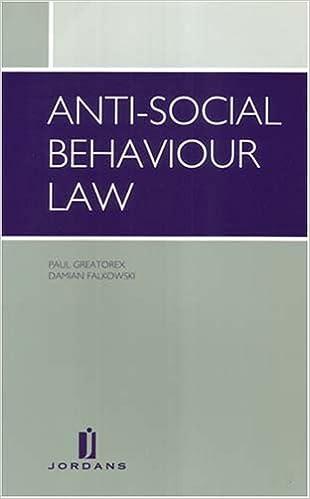 Book Anti-Social Behaviour Law