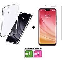 Capa Case Anti Shock Xiaomi Mi 8 Lite + Película de Vidro Temperado, Acompanha Kit Limpeza