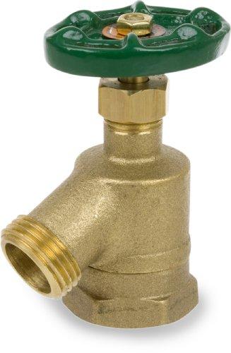 """Smith-Cooper International 170L Series Brass Bent Nose Garden Valve, Potable Water Service, Elbow, Handwheel, 1"""" NPT Female"""