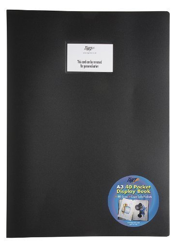Tiger 4 x A3 Flexicover Black Cover Display Book Presentation Folders Portfol... by Tiger Stationery