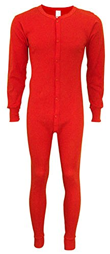 UPC 676518040502, Indera - Mens Tall Long Sleeve Union Suit, Red, 865 19265-XX-LargeTall