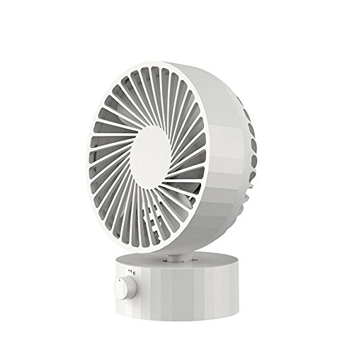 (GLOBE AS Small USB Mini Electric Fan Student Portable Dorm Room Desktop Office Room Air Circulator Fan (Color : Silver))