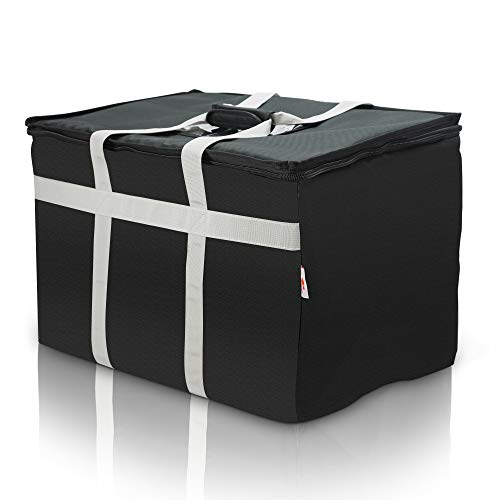 Commercial Quality Food Delivery Bag–Leak Proof–Extra Strength Zipper-Thick Insulation–Ideal for Catering,Uber Eats, Doordash– by Elite ()