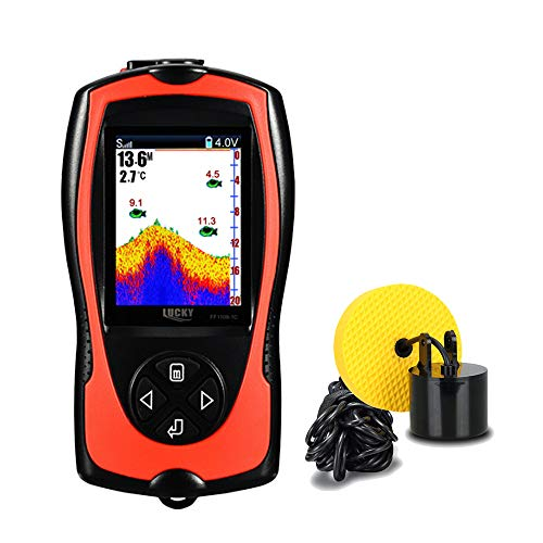 Lucky Portable Fish Finder Wired Sonar Sensor Transducer 328 Feet Water Depth Finder LCD Screen for Kayak Fishing Ice Fishing Sea Fishing by Lucky