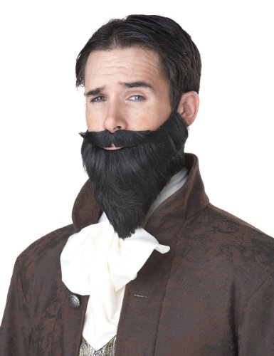 (California Costumes Women's The Shakespeare Moustache and Beard Steampunk Musketeer Ren Faire, Black, One)
