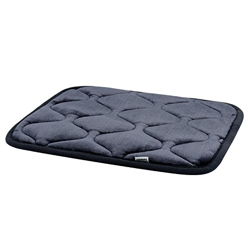 Hero Dog Small Dog Bed Mat 21 Inch Crate Pad Anti Slip Mattress Washable for Pets Sleeping (Grey XS)