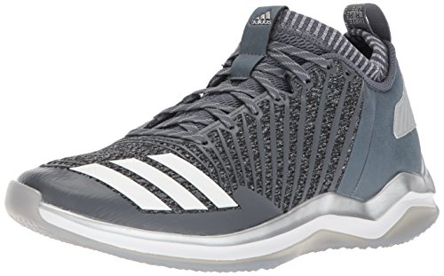 adidas Men's Freak X Carbon Mid Baseball Shoe, Onix/White/Metallic Silver, 10 Medium (Silver Shoes Trainers)
