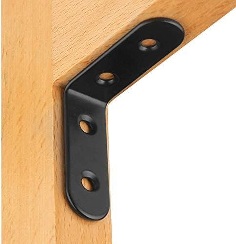 color negro STARVAST 30 piezas de soporte de esquina de acero inoxidable de 90 grados en /ángulo recto de 50 mm x 50 mm x 3 mm en forma de L para muebles conector de esquina esquinero
