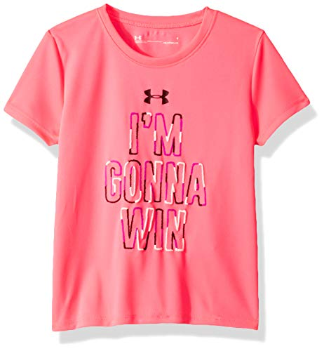 Under Armour Girls' Little Attitude SS TEE, Mojo Pink-S19 ()