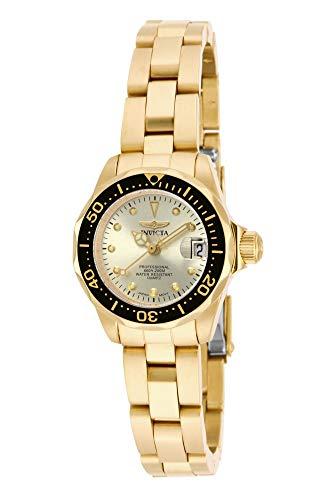 Invicta Women s 17038 Pro Diver Analog Display Japanese Quartz Gold Watch