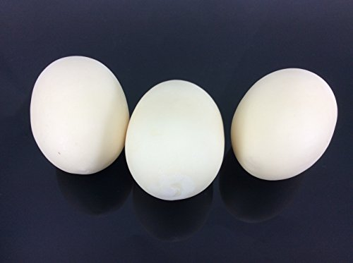 Egg White Artificial Lifelike Simulation Faux Fake Duck Egg 3 Pieces -