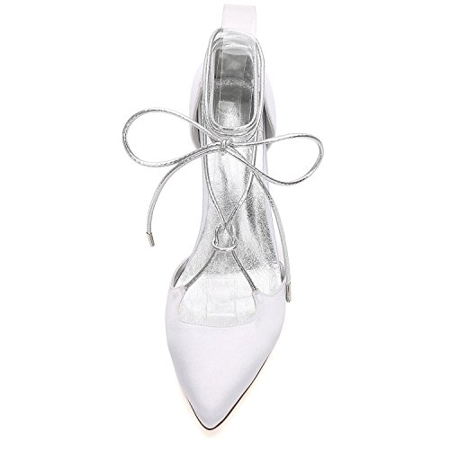 Pour Champagne de Printemps Soirée Soirée 17767 27 Bleu L Mariage Eté Satin YC Comfort Robe Robes amp; white de de Chaussures Femmes 4nHCBnS
