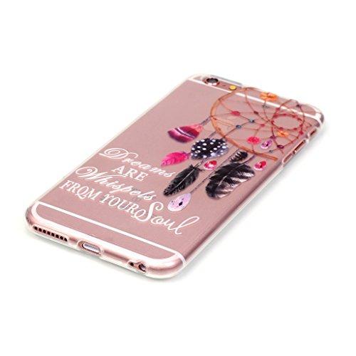 Custodia iPhone 6 / 6S , LH Dreamcatcher Campanula Trasparente Silicone Morbido TPU Case Cover Custodie per Apple iPhone 6 / 6S 4.7