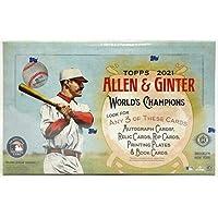 $134 » 2021 Allen & Ginter Baseball Hobby Box Factory Sealed 24 Packs Per Box 8 Cards Per Pack
