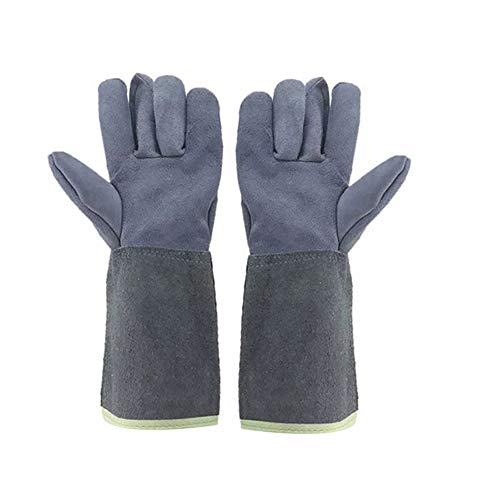 - heaven2017 Welding Gloves Faux Cowhide Anti-Scald Long Sleeve Hands Guards