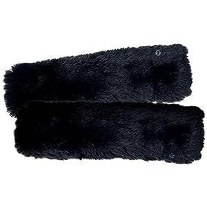 Zone Tech Car Seat Belt Comfortable Soft Shoulder Pad - 2-Pack Classic Black Premium Quality Seat Belt Comfortable Soft Shoulder Pad